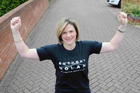GREAT STRIDES: Michelle Sherratt is running the London Marathon for the Anthony Nolan Trust