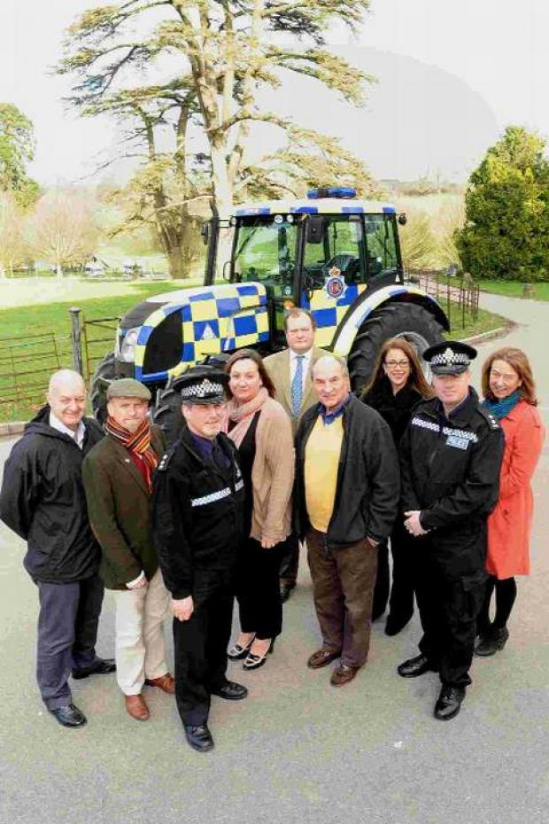 CRACKING CRIME: The Rural Crime Prevention Event team of Purbeck District Council Community Safety officer Paul Carter, Lee Griffiths from Dorset County Council, Inspector Les Fry of Dorset Police, Kate Huelin from Dorset Fire & Rescue, James Selby-Bennet