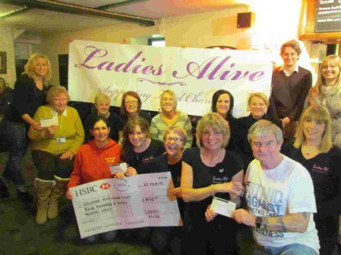 THANKS SO MUCH: Ladies Alive are donating to local good causes