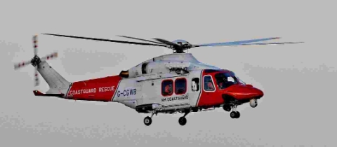 UNDER THREAT: The Portland Coastguard helicopter
