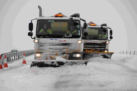 BE PREPARED: Gritters in action on the A35 near Litton Cheney