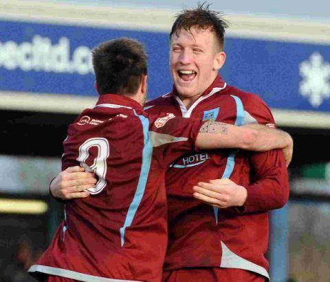 ED'S JOY: Ed Palmer celebrates his late winner