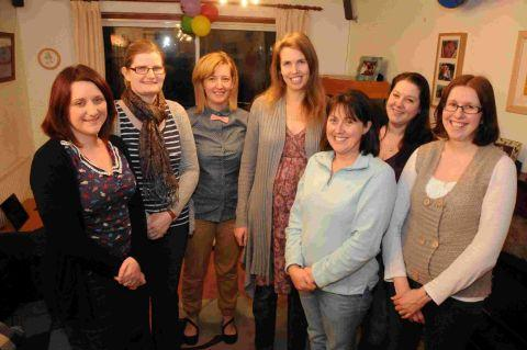 CELEBRATIONS: Revival of the mum's NCT Group, Weymouth, Dorchester and Blandford. Inset, branch co-ordinator Clare Perriss