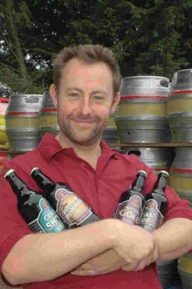 BEER TODAY: Owner Paul Walker, of Hunters Brewery which will be giving away 50 bottles of beer at the Foodie Show Dorset