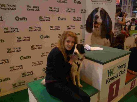 TAKING THE LEAD:  Dog trainer Isobel Buchanan at Crufts