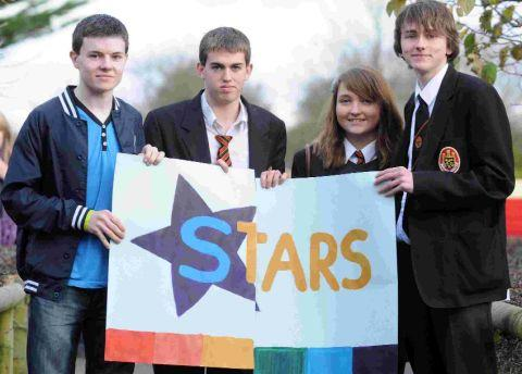 SUPPORT: Dan Spracklen, right, with friends at the launch of the Stars group