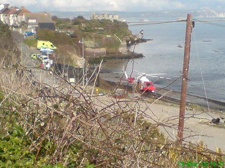 Man airlifted to hospital after cliff fall in Weymouth