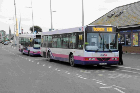 Bus drivers in strike action