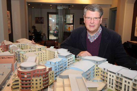 PLAN: Andrew Wadsworth with a model of Brewery Square
