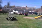 Lunch on the lawn at the Weld Arms, Lulworth