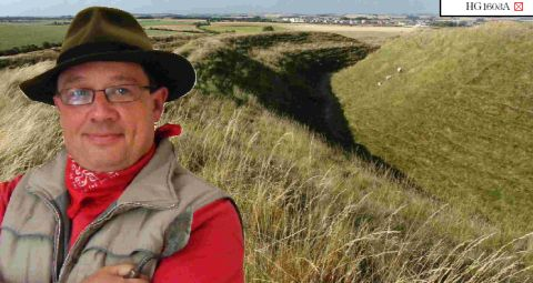 Archaeologist Chris Tripp and Maiden Castle at Dorchester