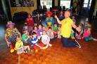 IN A SPIN: Steve Grainger demonstrates plate spinning at Broadmayne First School