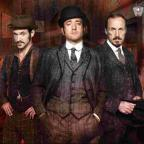 Adam Rothenberg, Matthew Macfadyen and Jerome Flynn in the BBC series Ripper Street, in which Abberline is portrayed as having out-dated ideas