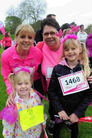 PRETTY IN PINK: Runners tackled the Race for Life