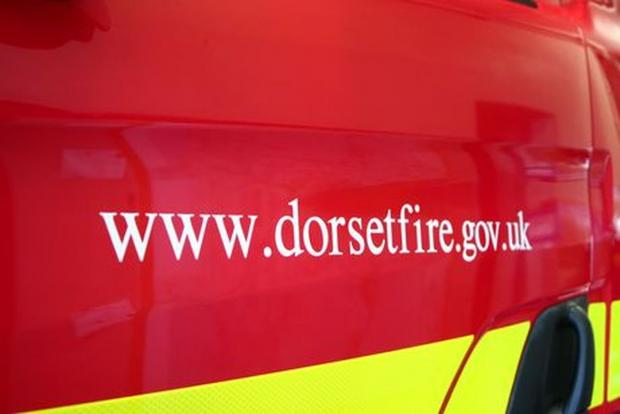 Dorset Echo: Firefighters deal with barn blaze after bonfire spreads