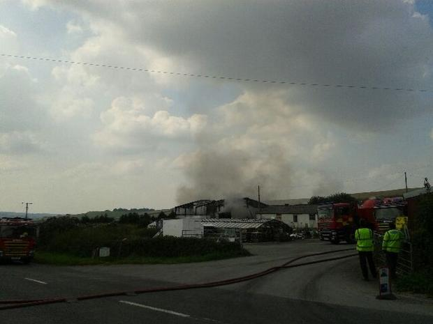 SCENE: Barn fire at Tolpuddle