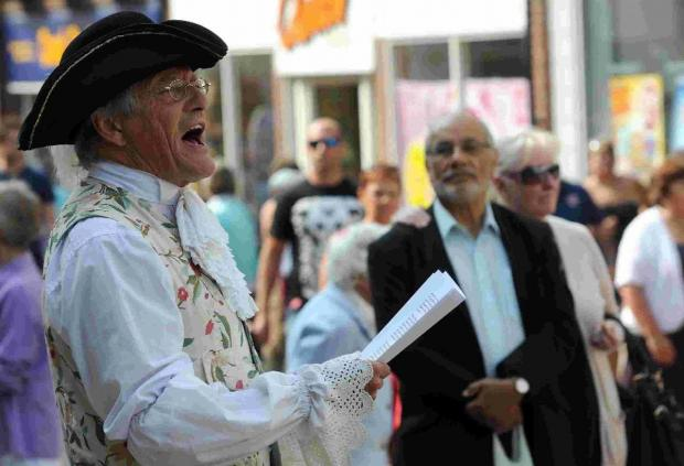 FULL CRY: Town Crier Alistair Chisholm