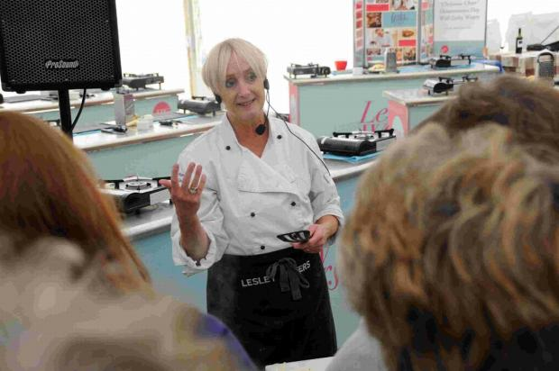 Dorset Echo: Leslie Waters' pop-up cooking school at last year's festival