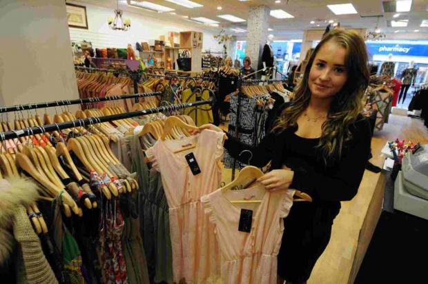 Rebecca Walsh, assistant  manager in Kulla, a new clothes shop in South Street, Dorchester