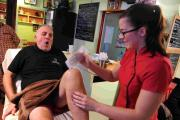 OUCH! John Fioiri gets his legs waxed for the appea