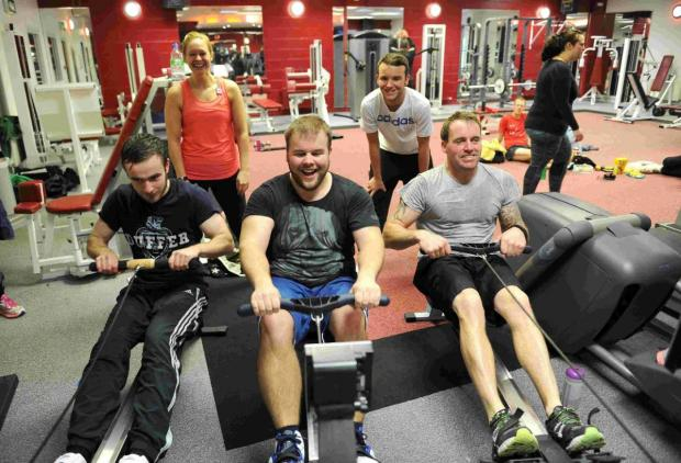 Dorset Echo: FITNESS FIRST: From left, Barry Riggs-Holland, James Cheeseman and Simon Teversham