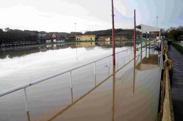 WASHED OUT: Bridport FC's St Mary's Field