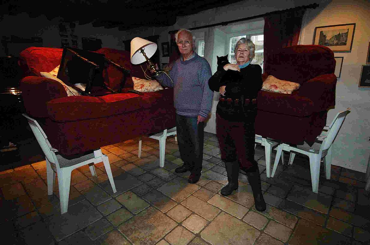 PRECAUTIONS: Hugh and Lyn Willis in their home at Charminster