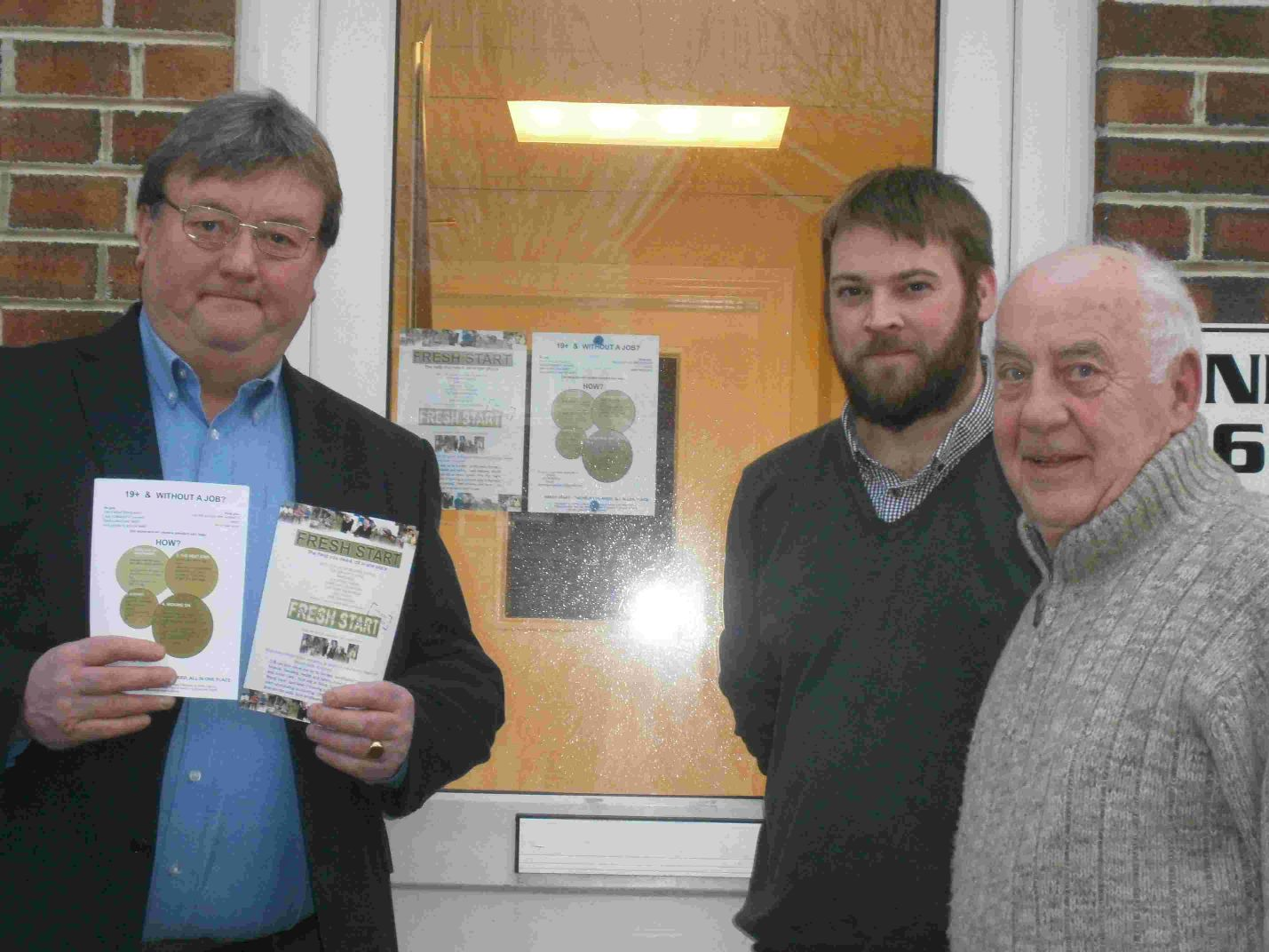MENTORS: Fresh Start Tutors and mentors Paul Conde, Richard Smith and Alan Leach for Skills Training Bridport
