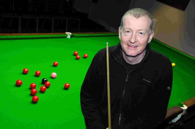 LEGEND: Steve Davis during a previous visit to Snookes in 2011