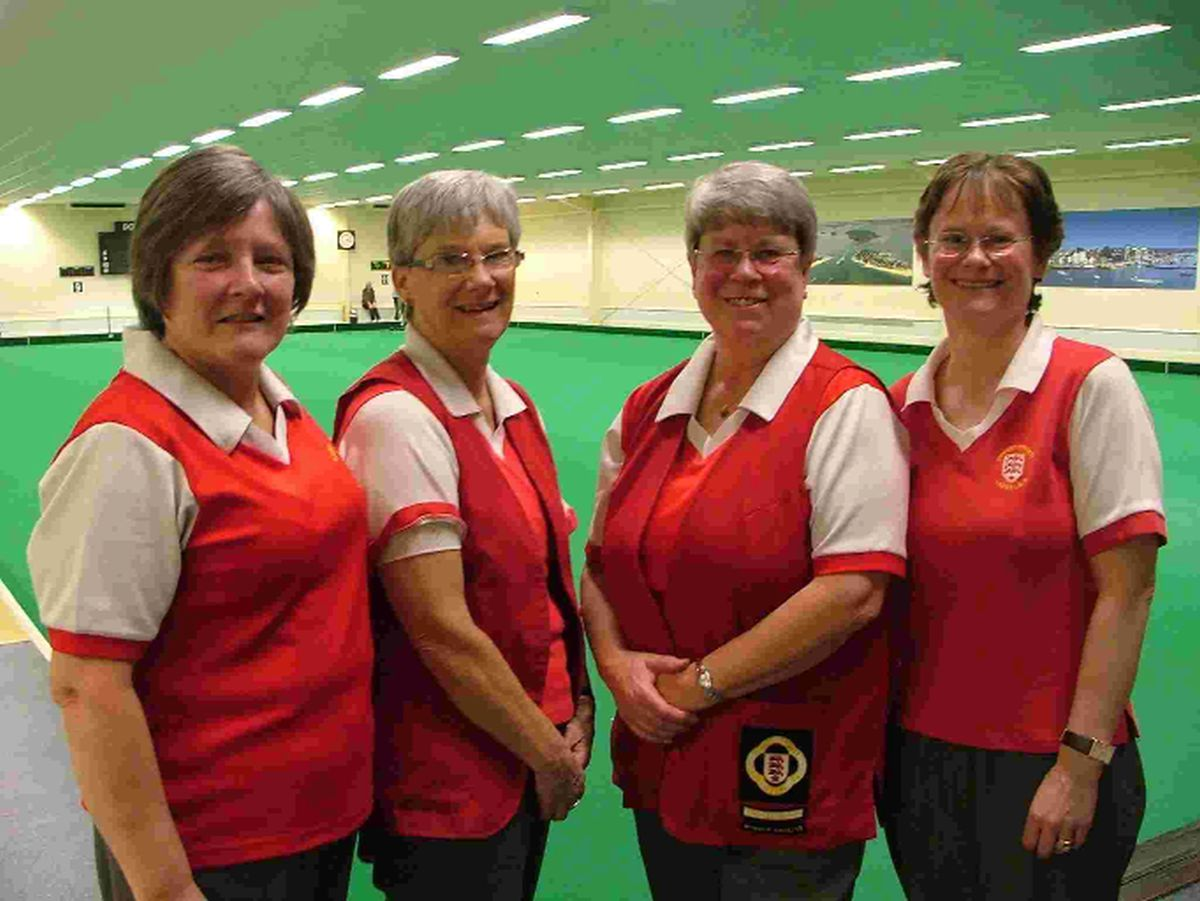 ANCHOR-WINNING RINK: Dorset's Penny Cresswell, Sue Dadson, Wendy Brown and Sally Williams