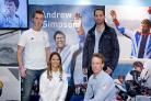 Sir Ben Ainslie with Paul Goodison, Bryony Shaw and Stevie Morrison
