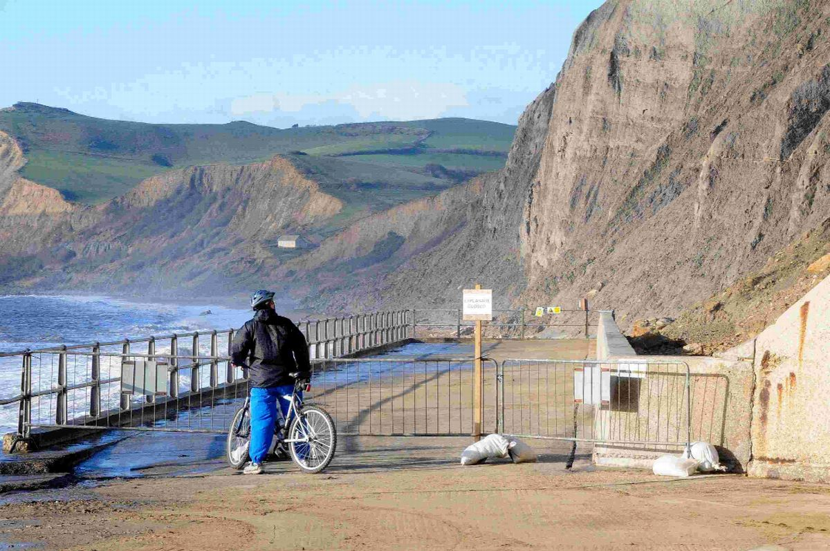 Dorset on landslip alert after flooding