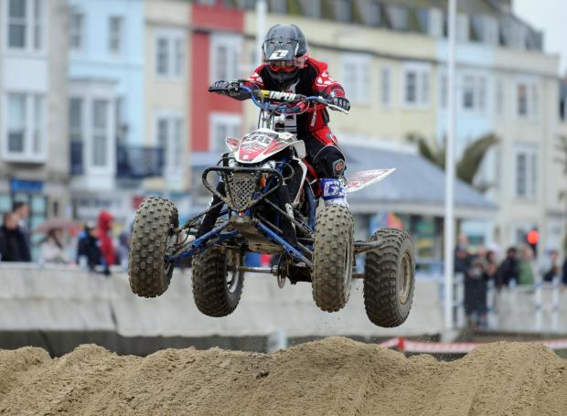 Spectacular quad bike event return to Weymouth beach