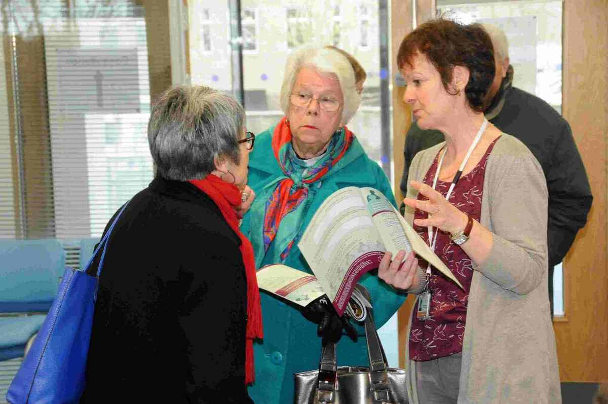 CONSULTATION: County residents talk to a council official in South Walk offices