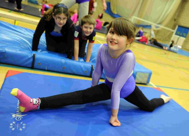 STRETCHING OUT: Youngsters enjoying the Saturday gym club