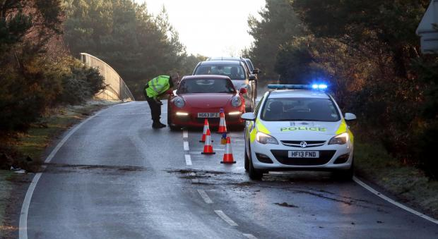 Police officers were called to the Avon Causeway bridge in Bournemouth where the road crosses the A338 after ice on the road caused a number of collisions