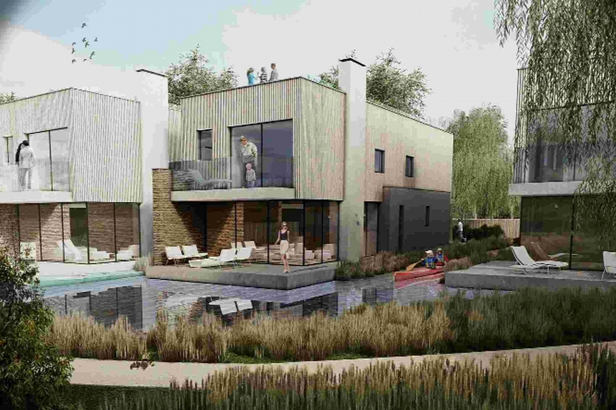 An artists' impression of the Silverlake development at Crossways