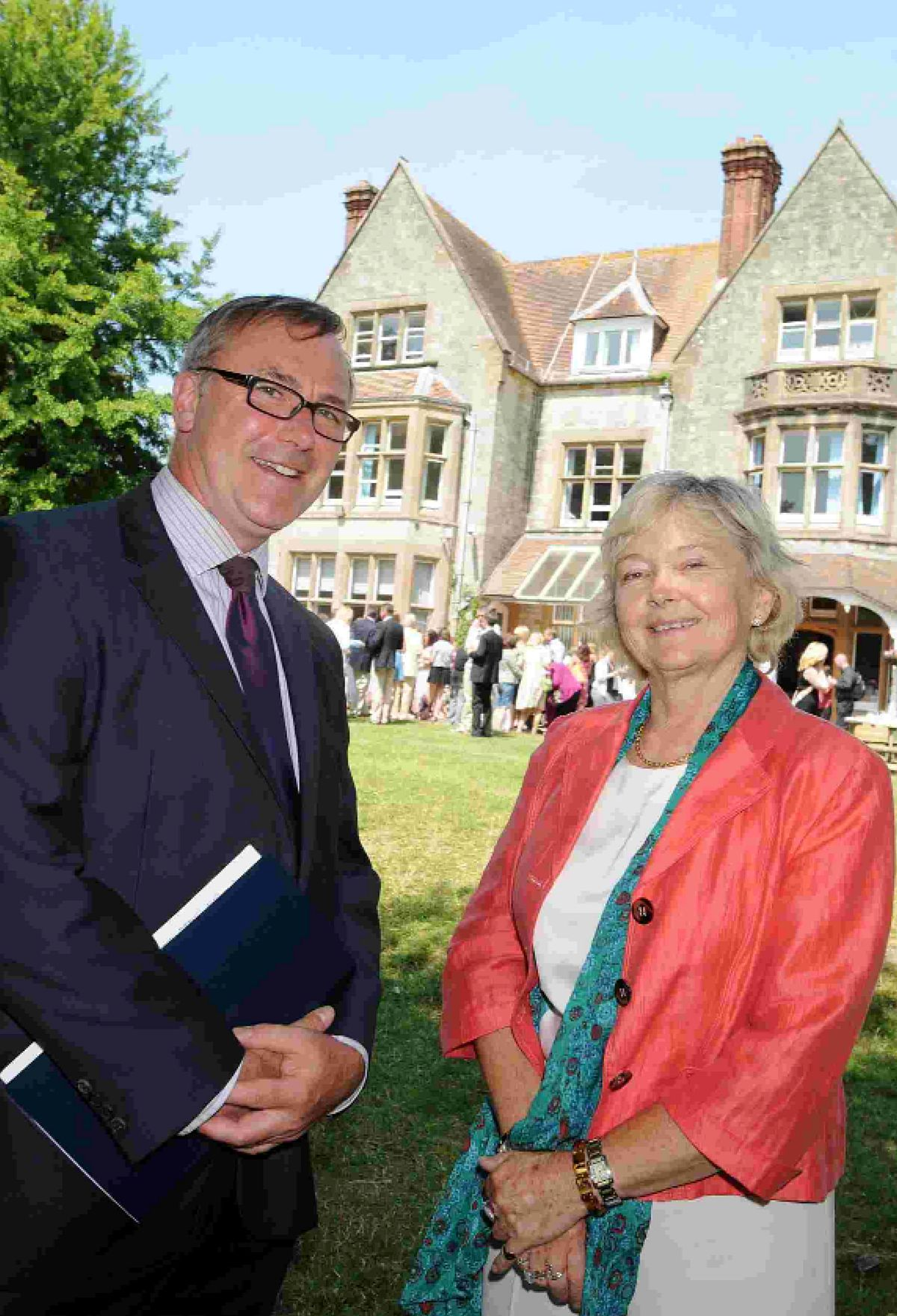 CLASS ACT: Headmaster Andrew Roberts-Wray and former Schools Commissioner for England Dr Elizabeth Sidwell