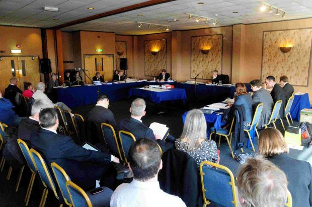 INQUIRY: The hearing earlier this week at the Heights Hotel