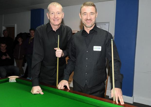 LEGENDS: Steve Davis and Stephen Hendry