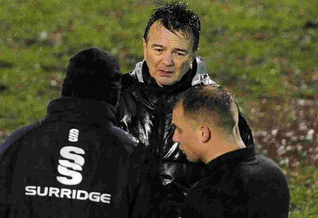 Dorset Echo: NO-GO: Phil Simkin is told the game is abandoned