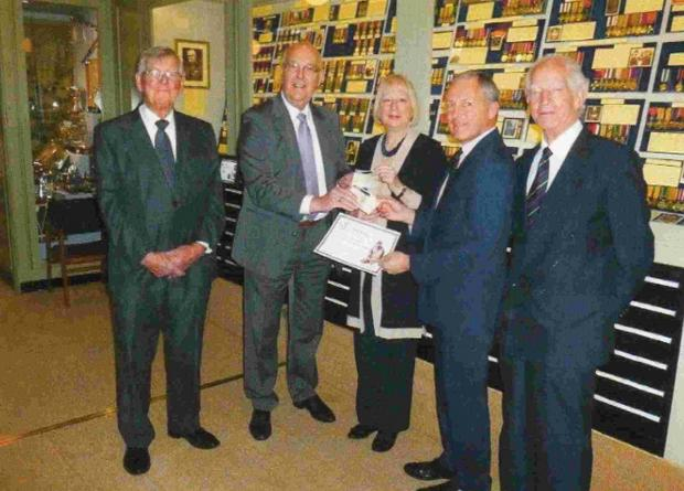 Dorset Echo: The presentation at the Durnovarian Lodge 8726