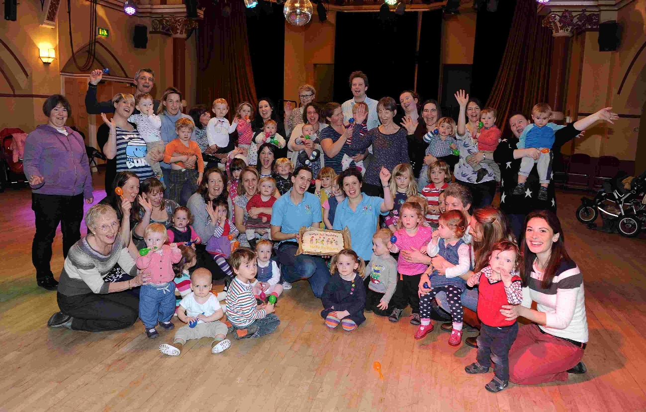 Fizzy Boppers dance group for toddlers celebrating its first birthday at the Corn Exchange