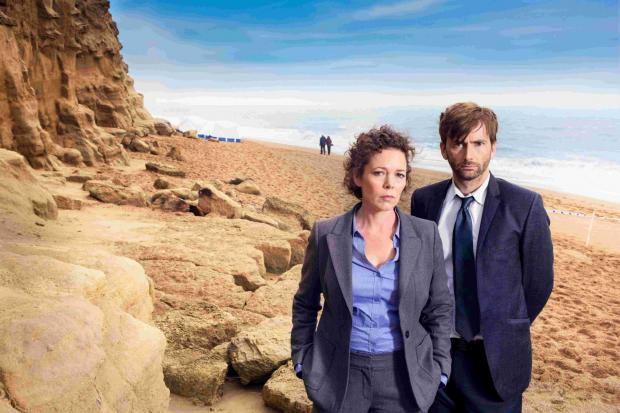 Olivia Colman and David Tennant in the critically acclaimed Broadchurch, which was partly filmed at West Bay