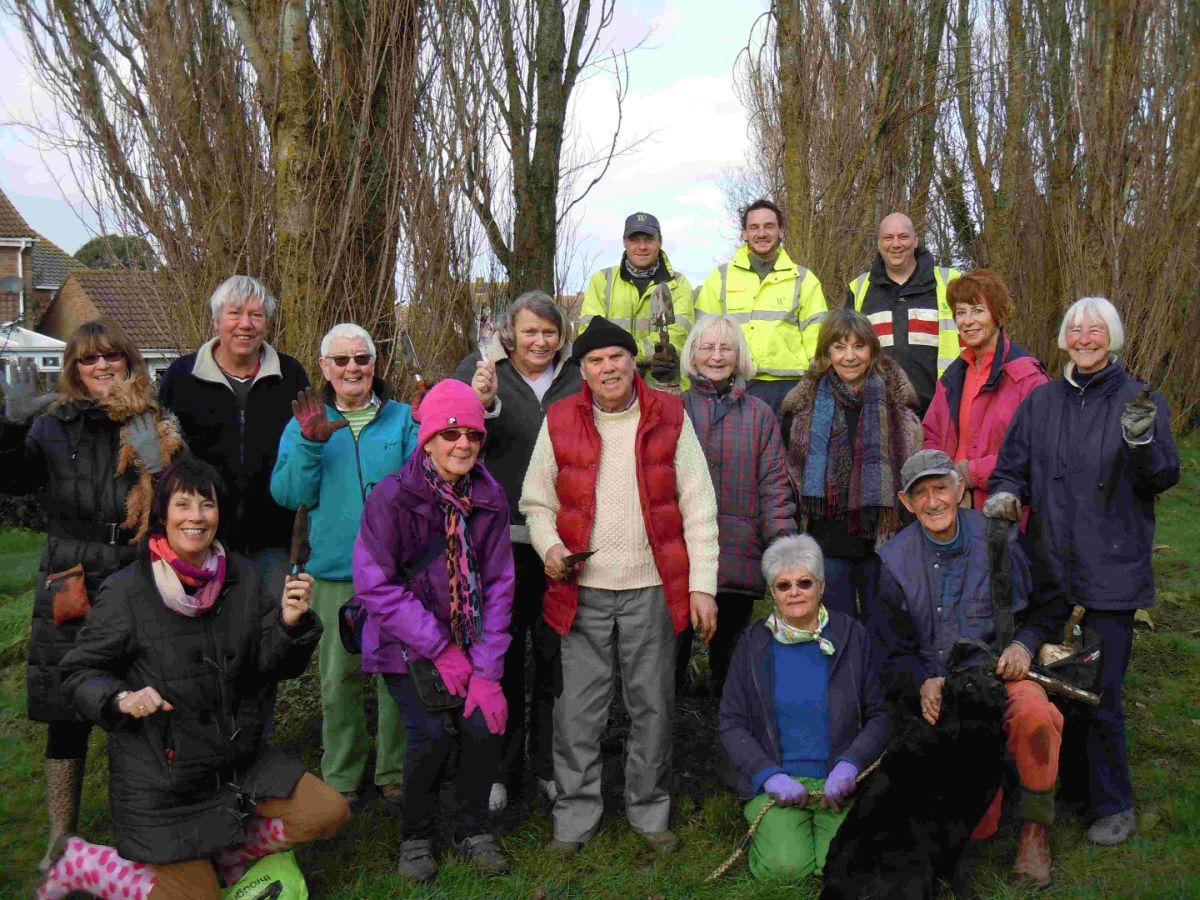 DIGGING IN: The Friends of Lodmoor Country Park Foxglove Project volunteers wit