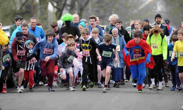 The start of the two-mile fun run at last year's event