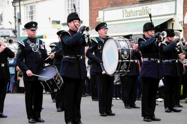 The Salamanca Band of the Rifles marching in South Street in 2011