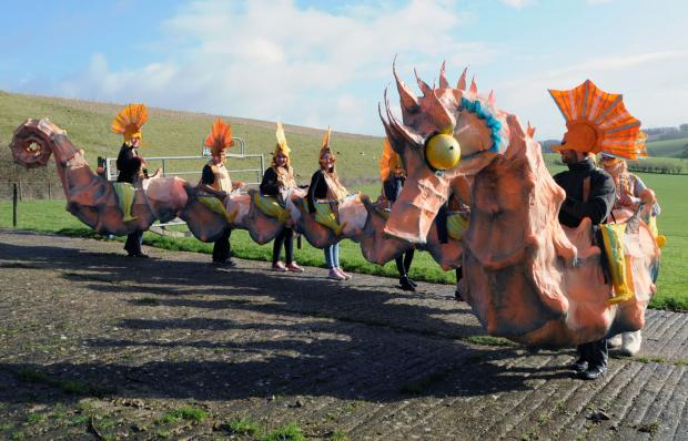 Seahorse carnival costume inspires community art project