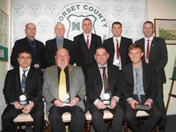RECOGNISED: Winners at the Dorset County Football Association's annual volunteer awards