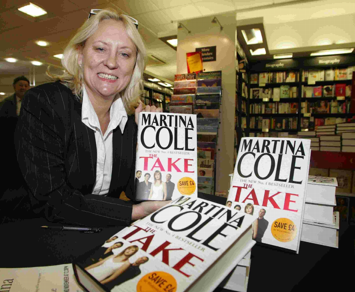 WRITE ON: Bestselling author Martina Cole at a  Waterstones book signing session